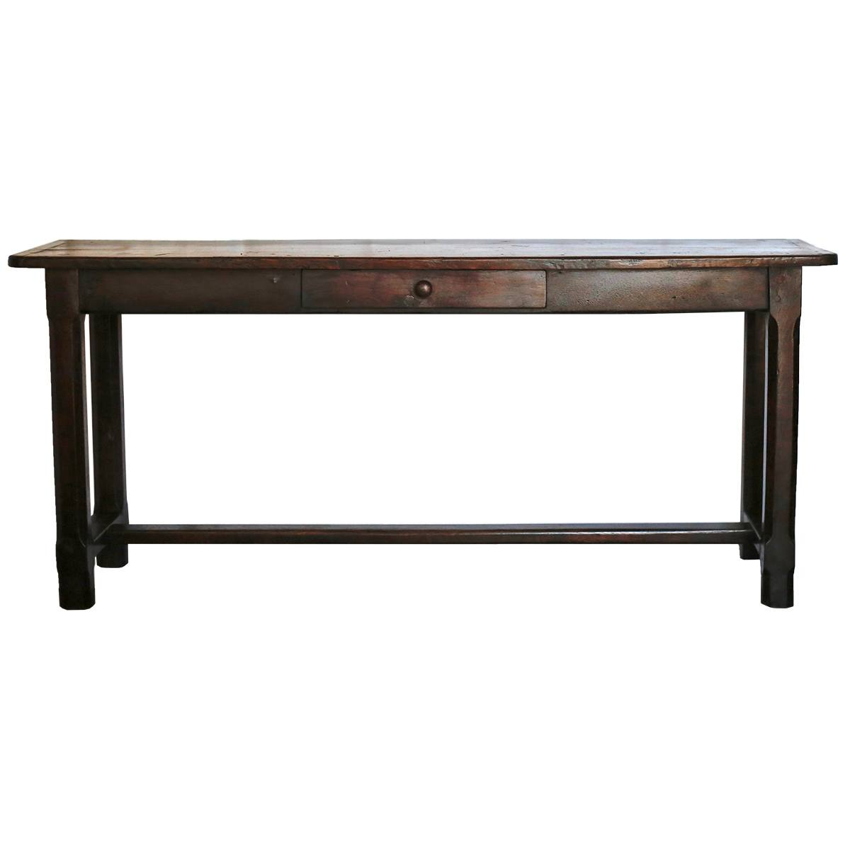 a wooden bench